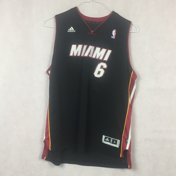 e16cf0335 adidas Other -  6 LeBron James Miami Heat Adidas Jersey Size XL